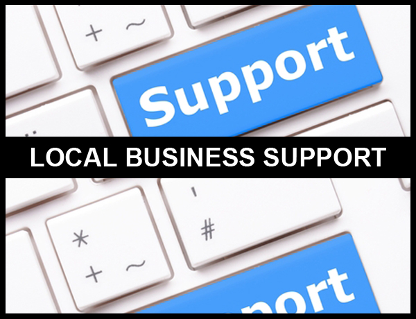 Northampton Business Support shown as a key on a keyboard